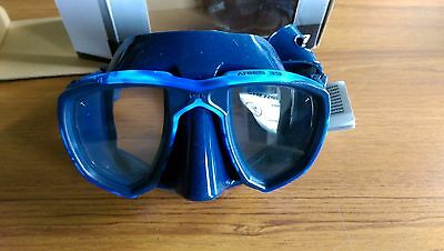 NEW OMER Aries 39 Blue Mask - Excellent Condition - Freediving Spearfishing