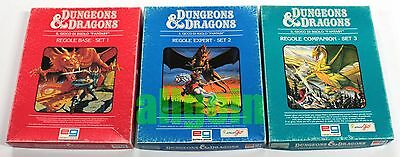 Dungeons & Dragons REGOLE BASE + EXPERT + COMPANION SET 1-2-3 TSR EG 1985 D&D