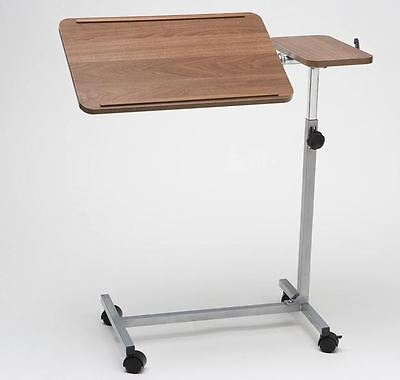 Over Bed Table / Chair Table with Twin Top on Castors