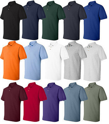 12 NEW Hanes  Cotton Blended Polo Sport Shirt 054X Golf T shirt Lot