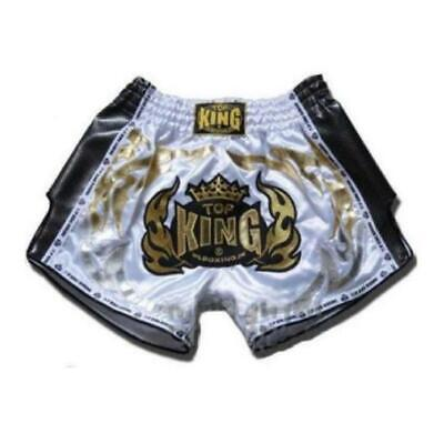 TOP KING Special Retro Muay Thai White Shorts TKRMS Fighting