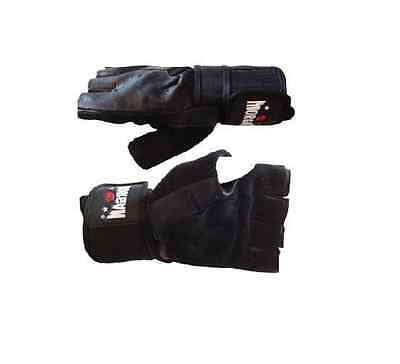 MORGAN Wieder Weight Traning Gym Gloves Leather Crossfit Cross Fit S M L XL
