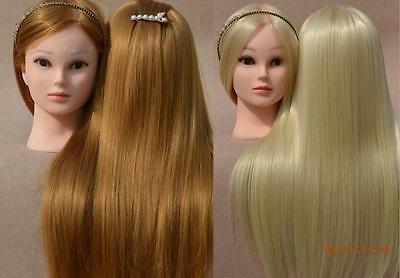 """Salon Cosmetology Human Hair Hairdressing Practice Training 18""""Head Mannequin"""