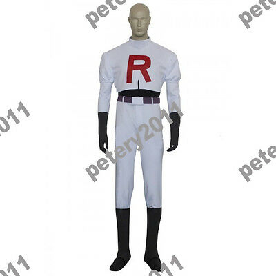Custom-made Team Rocket James Cosplay Costume from Pokémon