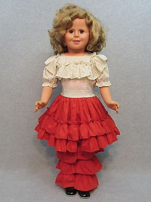 BIG vintage child-size Shirley Temple hard plastic Play Pal type Doll