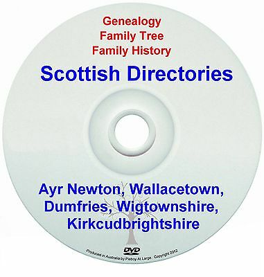 Family Genealogy Scotland Ayr Newton Wallacetown Dumfries Wigtownshire New DVD