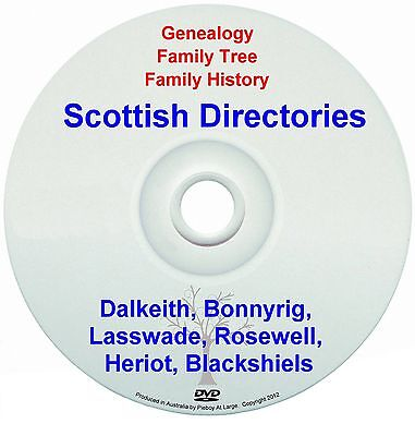 Family Genealogy Scotland Dalkeith Bonnyrig Lasswade Rosewell Heriot Blackshiels