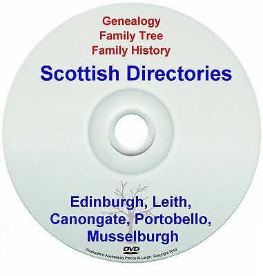Family Genealogy Scotland Edinburgh Leith Canongate Portobello Musselburgh DVD