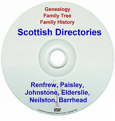 Family Genealogy Scotland Renfrew Paisley Johnstone Elderslie Neilston Barrhead