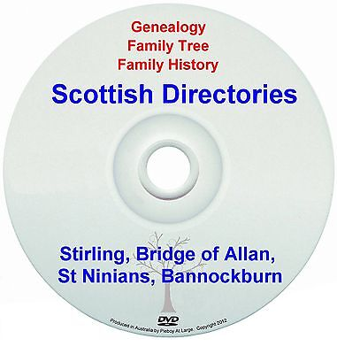 Family Genealogy Scotland Stirling Bridge of Allan St Ninians Bannockburn DVD