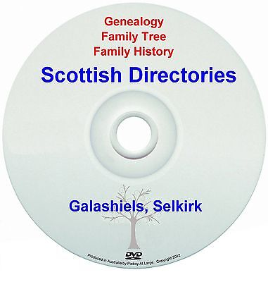 Family History Tree Genealogy Scotland Galashiels Selkirk Directories New DVD