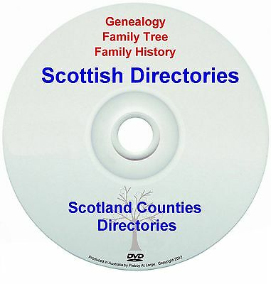 Family History Tree Genealogy Scotland Scotland Counties Directories New DVD