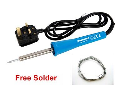 Soldering Iron 15 Watt Free Solder, Ideal Small Electronic Use