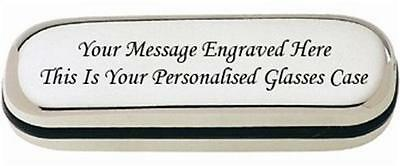 Personalised Gift Engraved Steel Metal Glasses Case