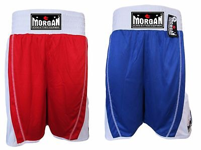 Morgan Boxing Reversible Amateur Boxing Shorts Competition Amatuer Red Blue