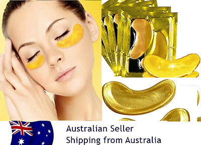 10 pairs GOLD Collagen Crystal Eye Mask Deep Moisture Anti wrinkle bags,patches