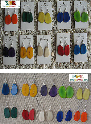 50 pairs TAGUA nut slices EARRINGS Eco friendly AMAZON FOREST VEGETABLE  IVORY