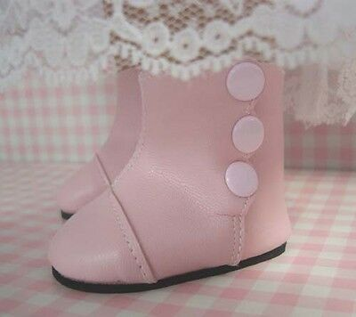 Pink High Button Victorian Boots for American Girl Doll Clothes Monique's Brand