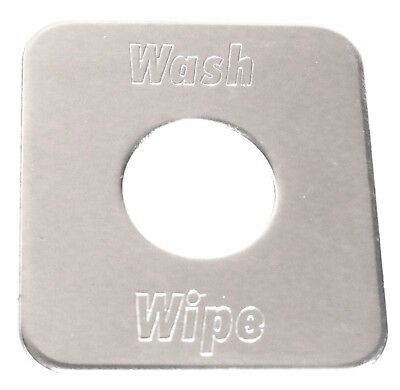 switch plate washer/wiper stainless steel block letters for Freightliner