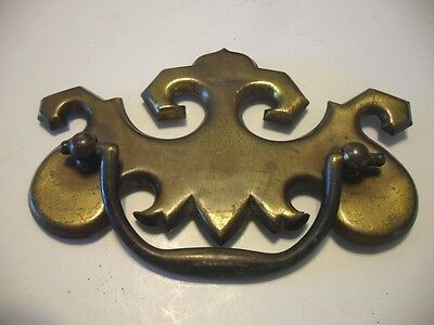 Vintage English Brass Waterfall Style Bail PULL Bedroom Dresser Drawer Handle