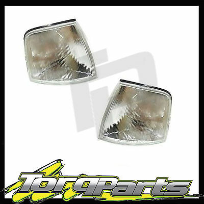 SUIT Ford Falcon EA EB ED Clear Indicator Lights/Lamps Pair x2 Corner