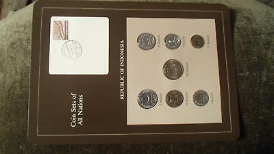 Coin Sets of All Nations Indonesia w/card 1970-1979 UNC 100 Rupiah 1978