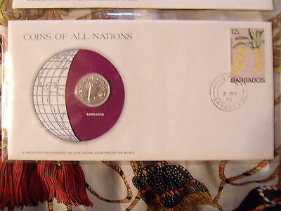 Coins of All Nations Barbados 25 cents 1979 FM(U) UNC 523 Mintage