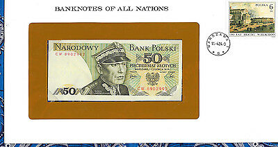 Banknotes of All Nations Poland 1979 50 Zlotych P142b UNC Prefix CW
