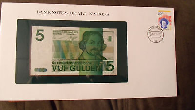 Banknotes of All Nations Netherlands 5 gulden 1973 P 95 UNC 2487