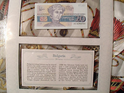 *Most Treasured Banknotes Bulgaria 1991 20 Leva P100 UNC