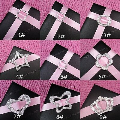 100-500 Buckle Ribbon Slider Wedding Party Christmas Card Invitation DIY Craft