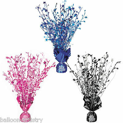"16"" Happy Birthday Pink Blue Black Boy Girl Party Glitz Foil Table Centrepiece"