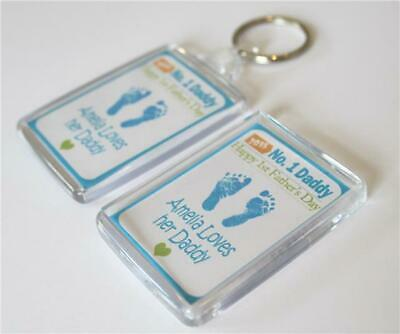Personalised 1st Mother's Day Keyring and Magnet Daddy Gift Present Mum birthday