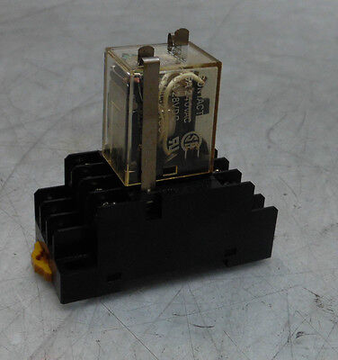 Omron Cube Relay MY4N, With PYF14T Base, 24VDC, Used, WARRANTY