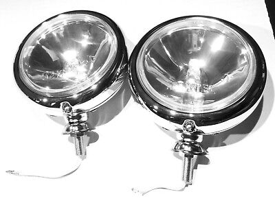 "Work lights(2) 5"" round off-road fog lights H3 chrome for Peterbilt Kenworth FL"