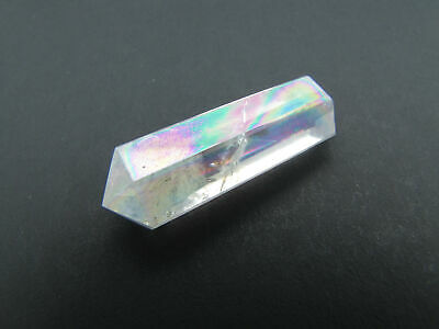 Angel Aura Quartz ONE Faceted Double Terminated Point RAINBOW Healing Crystal