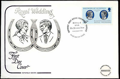 Guernsey 1973 Royal wedding FDC First Day Cover #C22875