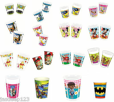 Disney Party Drinking Cups 8 Pack Children's Party Tableware Decoration Birthday
