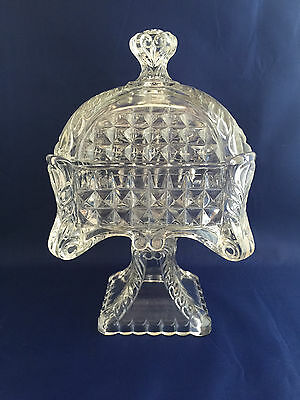 Antique EAPG US Glass Co. Acanthus Scroll Compote Candy Dish 1895