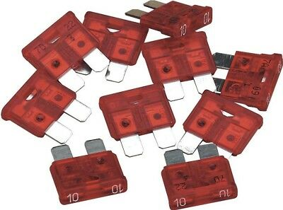 Sealey Fuse 10Amp for C/Tronic6/12 Pack of 10
