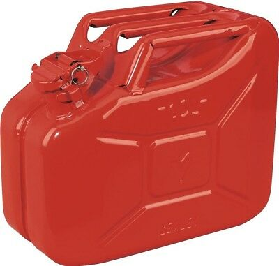 Sealey Jerry Can 10ltr - Red