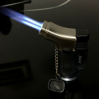 Double Jet Windproof Torch Gas Lighter Flame Butane For Cigar Cigarette