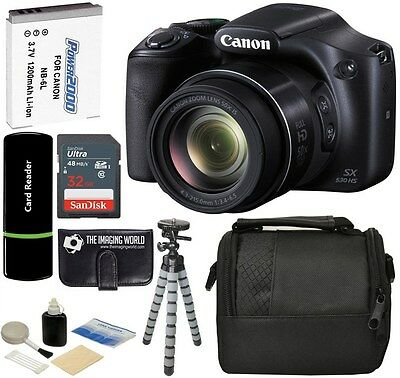 Canon PowerShot SX530 HS 16MP 50x Optical Zoom HD IS Digital Camera +32GB Bundle