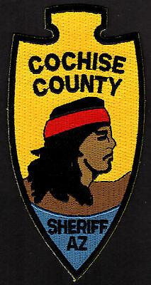Cochise County Arizona Sheriff Shoulder Patch  RF  Indian Design