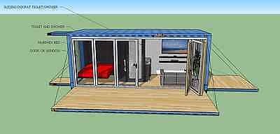 20' FT Transportable Shipping Container Home -160 Sqft - Brand New - Made in USA