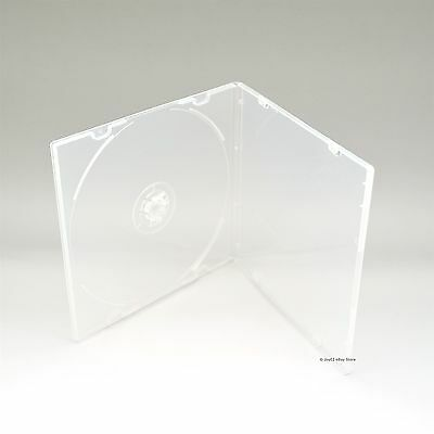200 Clear 5.2mm Single CD DVD R CDR DVDR Disc PP Poly Plastic Case Outer Sleeve