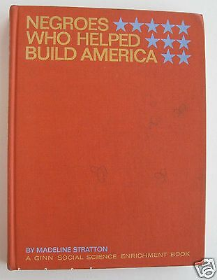 Negroes Who Helped Build America 1965 1st Edition Ex School Library