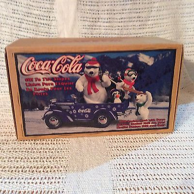 Coca Cola Off To The Slopes Bantam Bank With Bears New in Box MIB 1999
