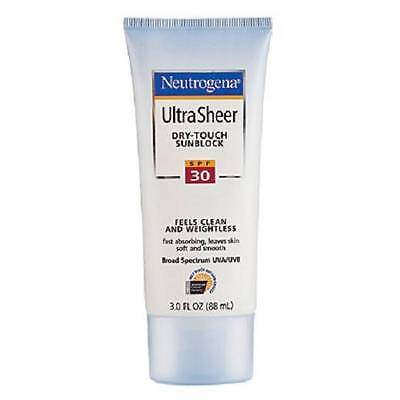 ** Neutrogena Ultra Sheer Dry Touch Sunblock Spf 30 Exp 06/15 New ** Waterproof