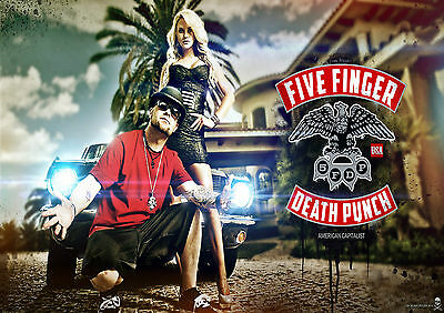 Five Finger Death Punch 19 Photo Rock Band Heavy Metal Picture Music Poster